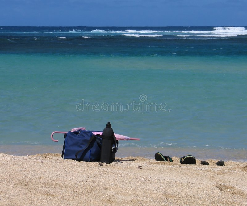 Beach Stuffs stock photo