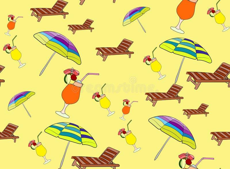 Beach style seamless pattern stock photos