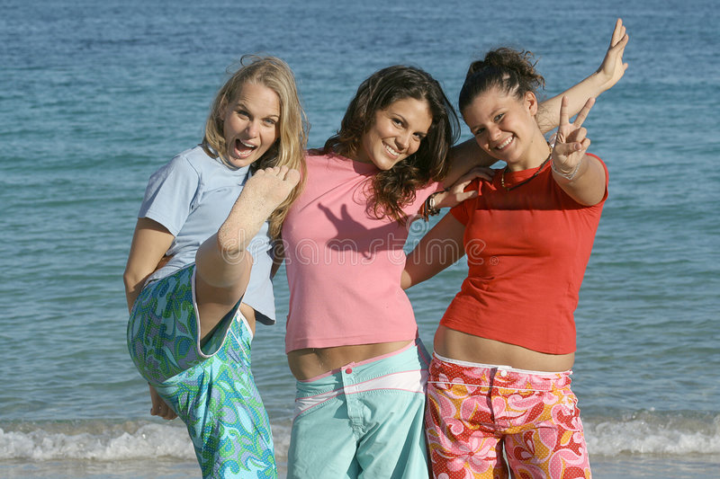 beach summer holiday group stock photography