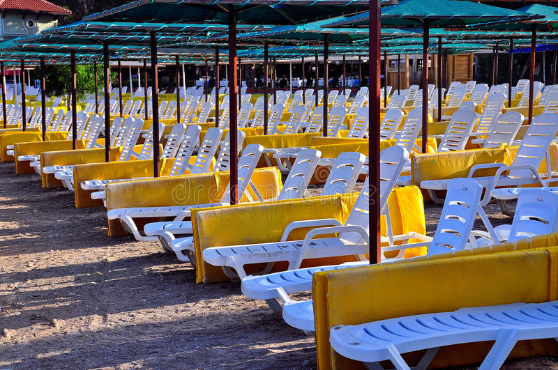 Download Beach Sunbeds Royalty Free Stock Image - Image: 20861146