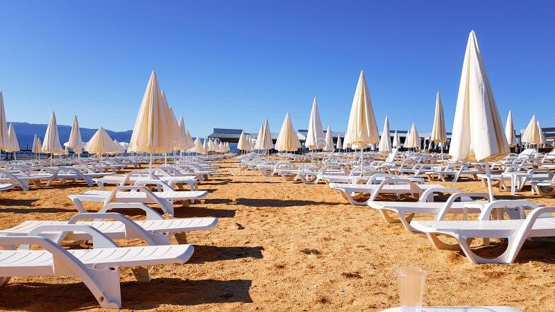 Beach Sunny Clear sky imagem de stock