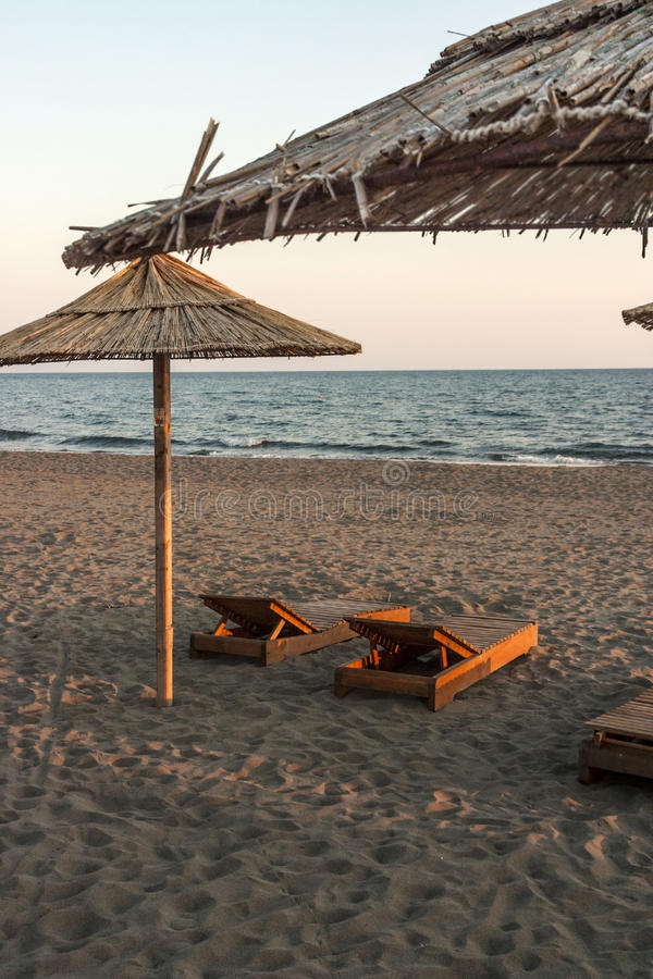Beach. Sunny day on the tropical beach royalty free stock photo