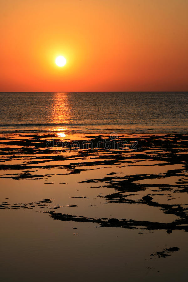 Download Beach sunrise stock image. Image of clouds, background - 10511309