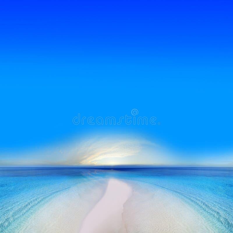 Beach Sunrise royalty free stock photo