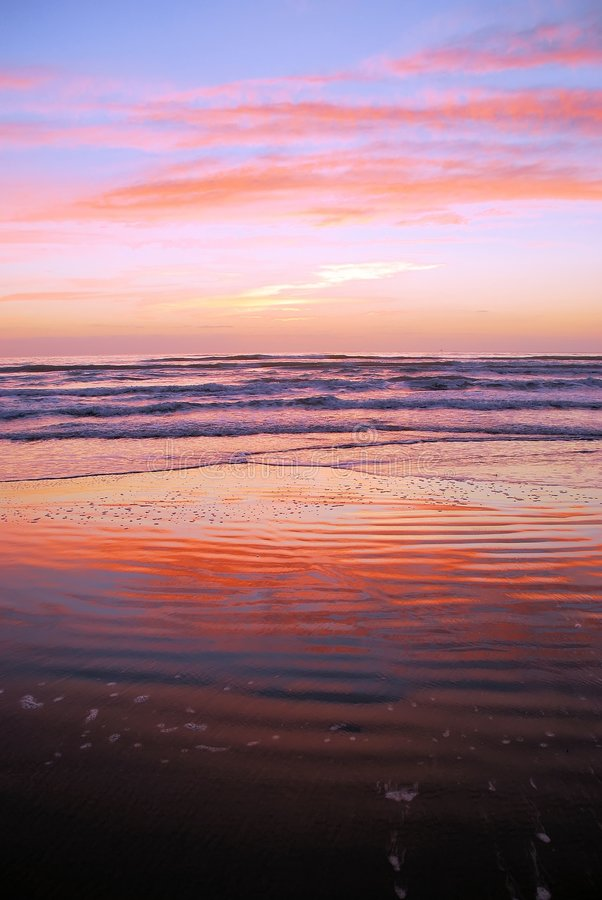 Download Beach with sunrise colors stock photo. Image of ripple - 4670316