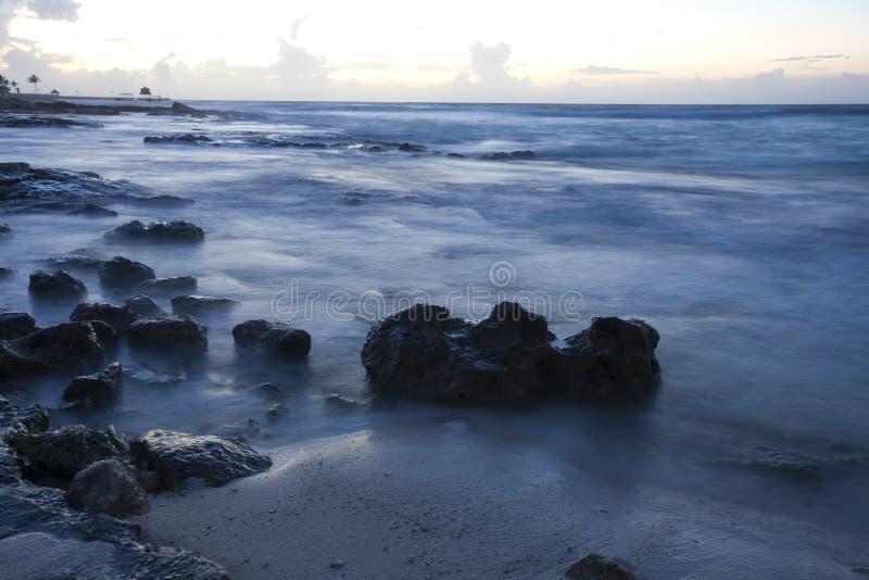 Download Beach At Sunrise On Mexican Riviera Maya Stock Image - Image: 6006939