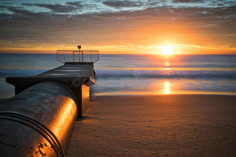 Beach Sunrise stock photo