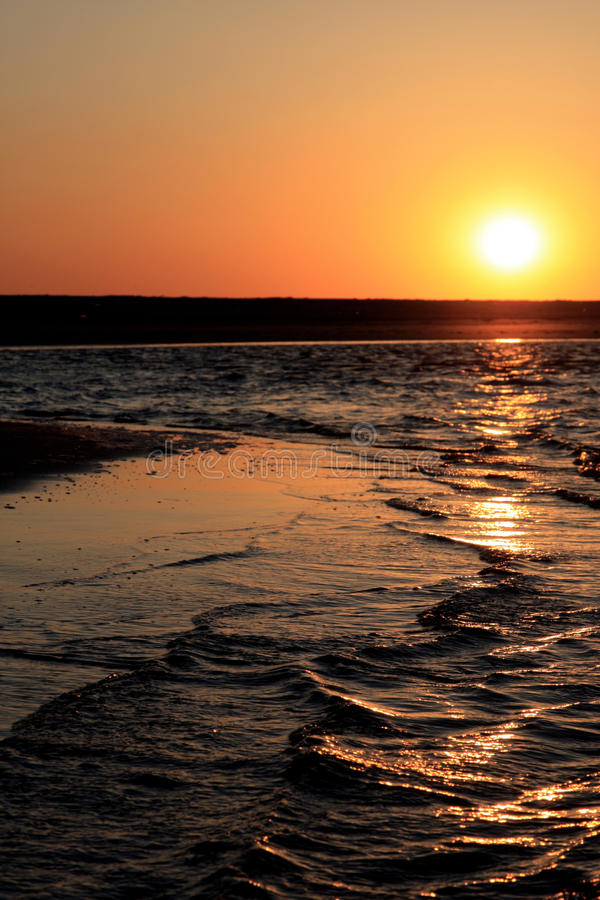 Download Beach at sunset stock photo. Image of sunny, water, shore - 12288434