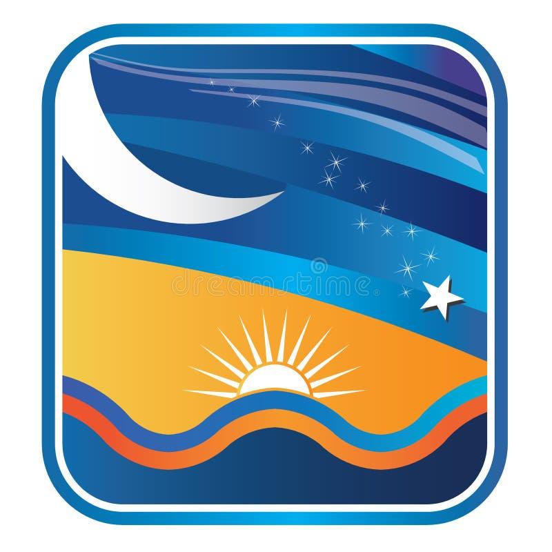 Download Beach sunset stock vector. Illustration of night, beach - 20115204