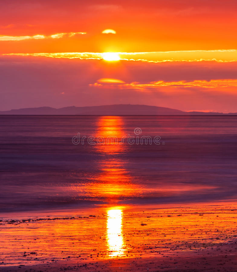 Free Beach Sunset Royalty Free Stock Photography - 46931877
