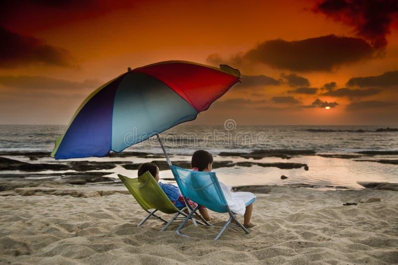 Download Beach sunset stock photo. Image of lifestyle, sand, romance - 5624570