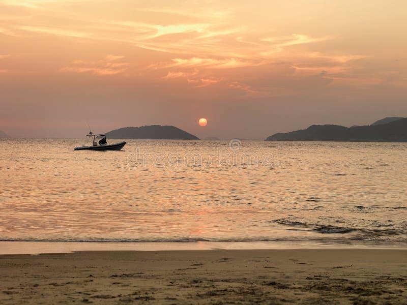 Beach_sunset 免版税库存图片
