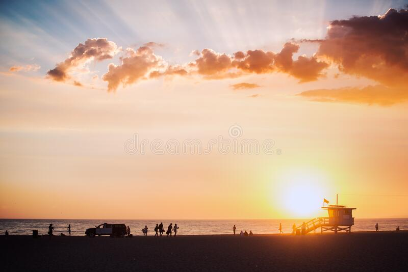 Beach At Sunset Free Public Domain Cc0 Image