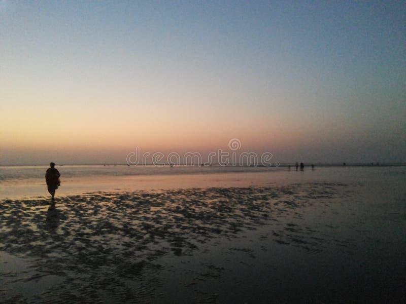 Beach sunset stock photography