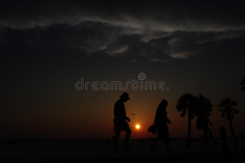 Beach Sunset in Florida stock image