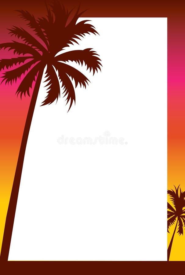 Download Beach Sunset Invitation/Border Stock Illustration - Image: 20889596
