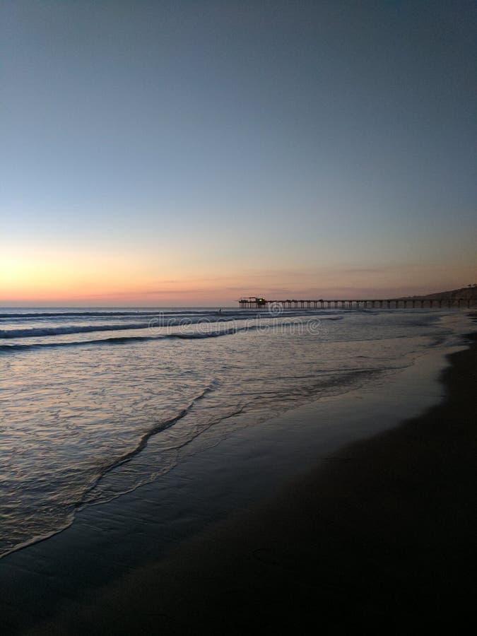 Beach at Sunset royalty free stock photo