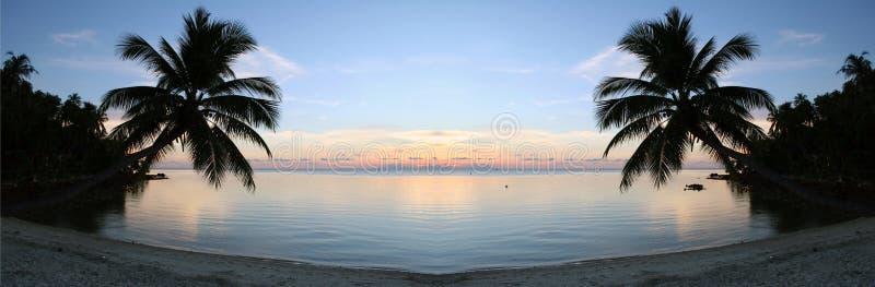 Beach Sunset - Purity. Peaceful sunset taken on the beach on Ko Pha-Ngan island in Thailand stock photos