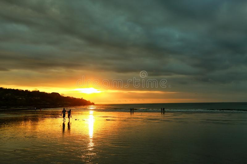 Jimbaran. Beach  sunset sky  sea jimbaran water cloud holiday stock photography