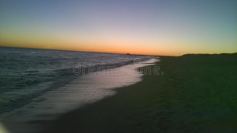 Beach sunset royalty free stock images