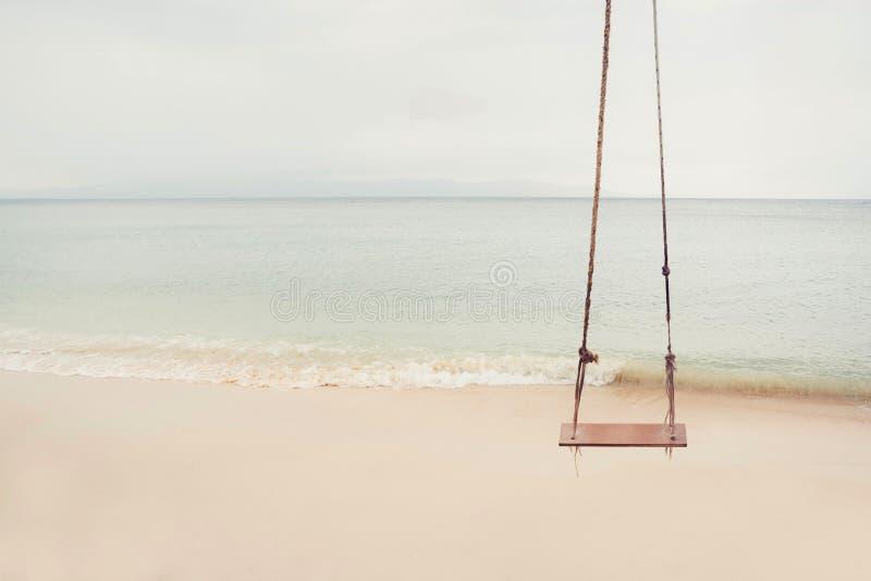 Beach Swing stock photo