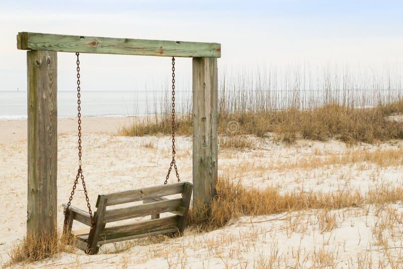 Beach Swing stock photos