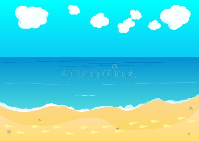 beach tło ilustracja wektor