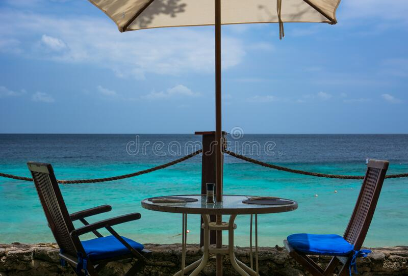 Beach table royalty free stock image