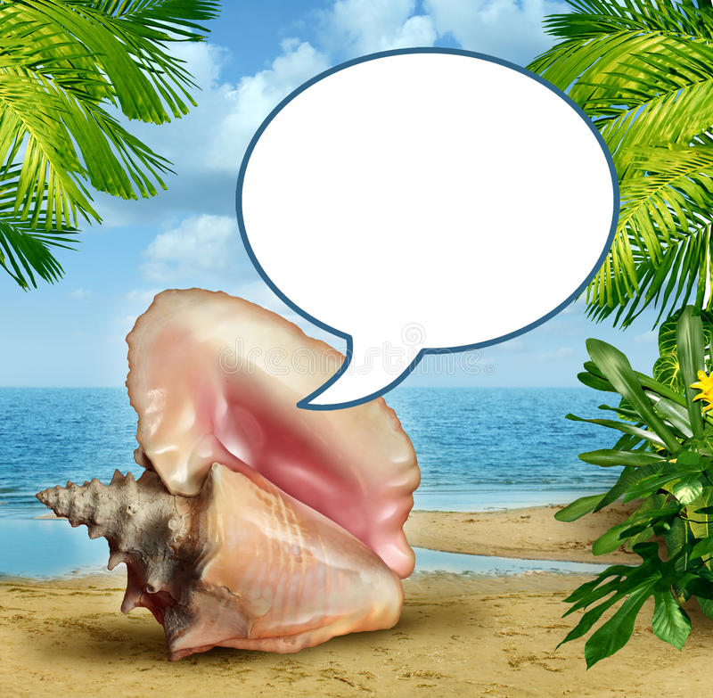 Beach Talk Royalty Free Stock Photos