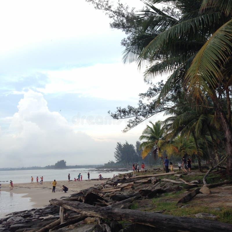 Beach. Tanjung Batu, Bintulu, Malaysia stock photo
