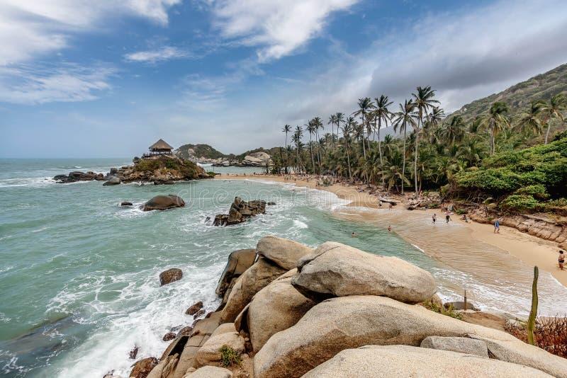 Beach at Tayrona National Park Santa Marta in Colombia.  stock photos