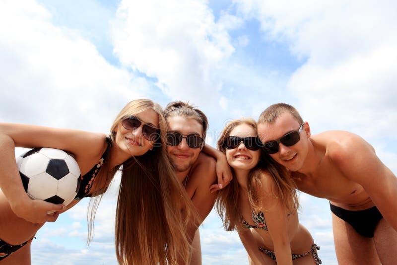 Beach team stock photography