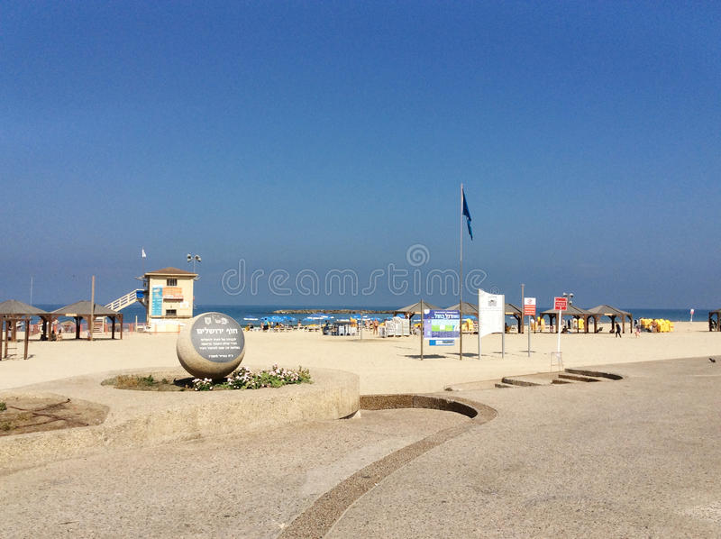 Beach in Tel Aviv, Israel stock photos