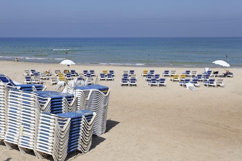 Beach in Tel Aviv, Israel stock photo