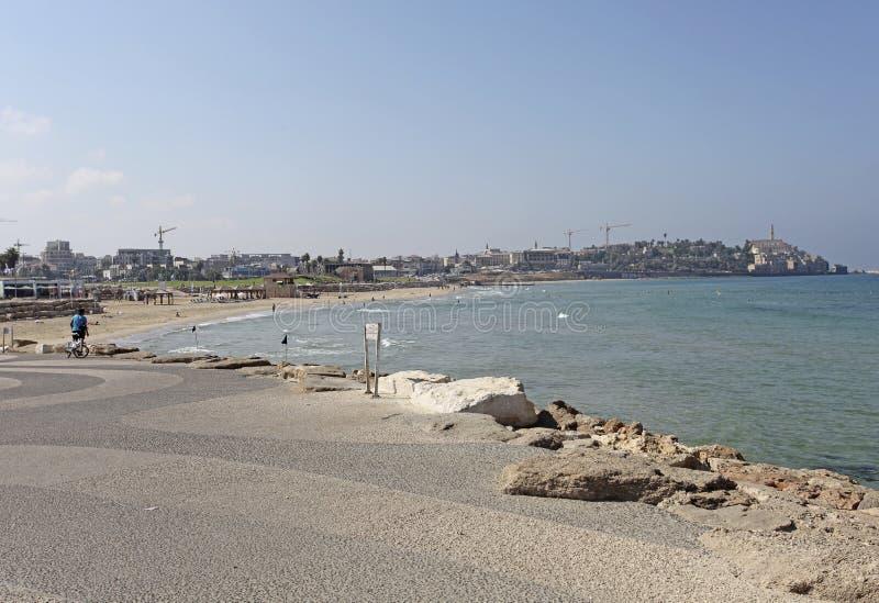 Beach in Tel Aviv, Israel royalty free stock photos