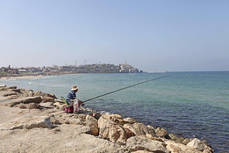 Beach in Tel Aviv, Israel stock image