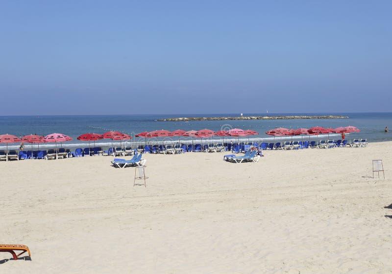 Beach in Tel Aviv, Israel royalty free stock photography