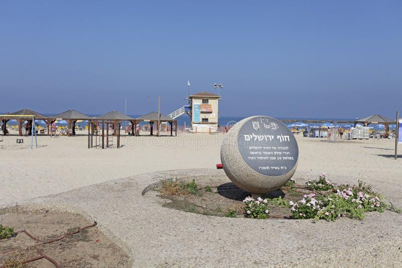 Beach in Tel Aviv, Israel royalty free stock image