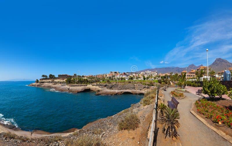 Beach in Tenerife island - Canary. Beach Las Americas in Tenerife island - Canary Spain royalty free stock photography