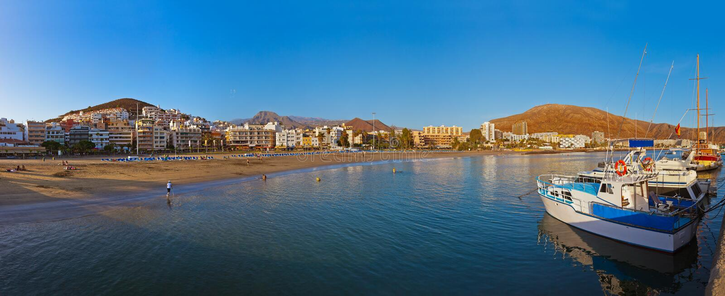 Beach in Tenerife island - Canary. Spain stock photo