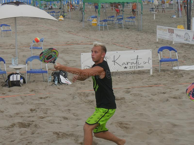 Beach Tennis DMX III category 23 August 2019 royalty free stock photos