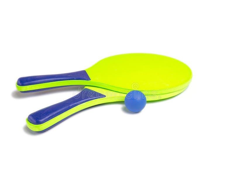 Beach Tennis Racket Set royalty free stock image