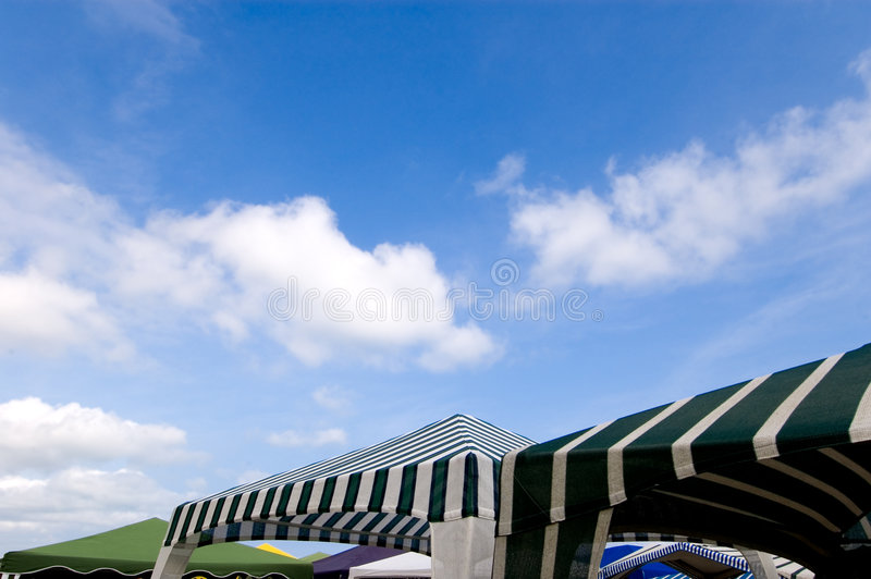 Beach tents royalty free stock image