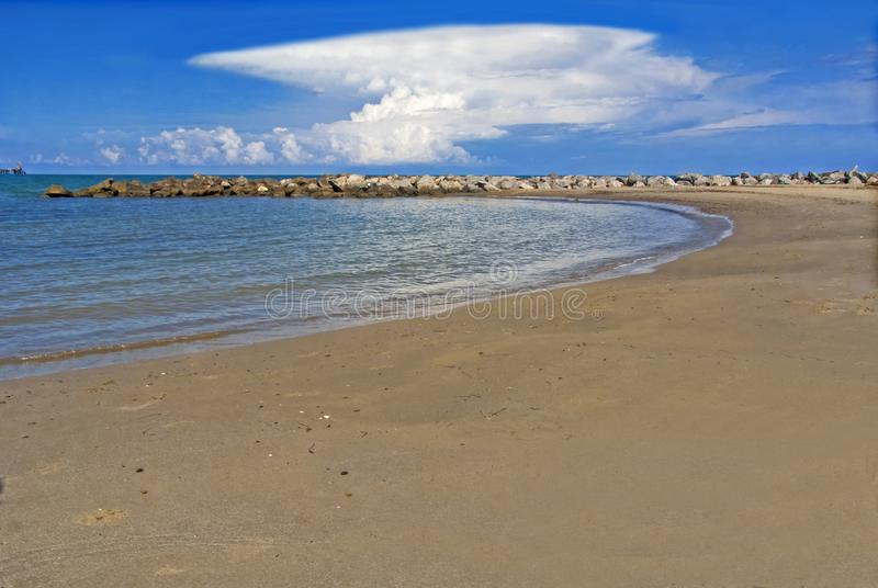 The beach of Termini Imerese a place to refresh royalty free stock image