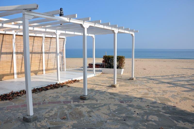 Beach terrace royalty free stock photography