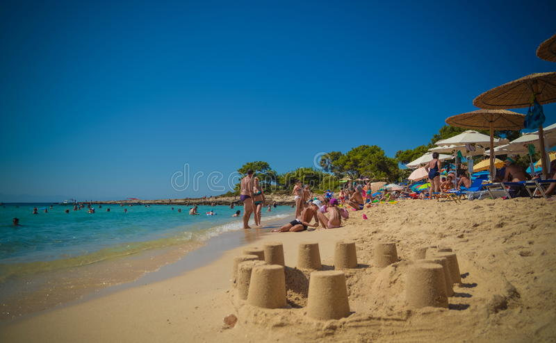 Beach in Thassos island, Greece royalty free stock images