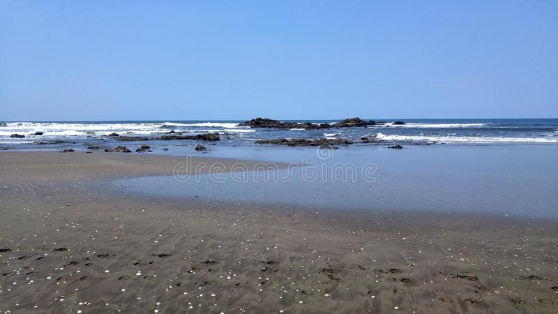 Beach with thousands of shells, Nicaragua stock photography