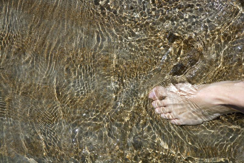 Download Beach Tourist Feet Walking On Shore Shallow Water Royalty Free Stock Photos - Image: 14560178