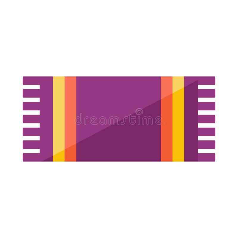 Beach towel with colorful stripes royalty free illustration
