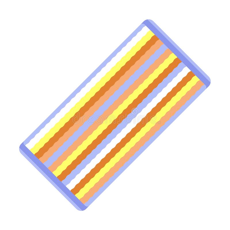 Beach towel icon, flat style stock illustration